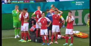 لحظة توقف قلب اللعب الدانماركي إيريكسون