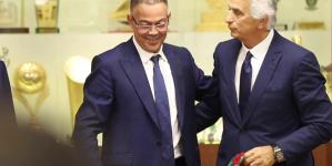 """اجتماع استثنائي بين """"لقجع"""" و""""وحيد"""" وقرار الإقالة وارد جدا"""