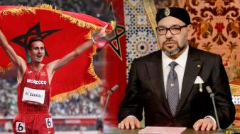 """الملك محمد السادس يرسل برقية تهنئة للبطل """"البقالي"""" بمناسبة تتويجه بالذهب الأولمبي"""